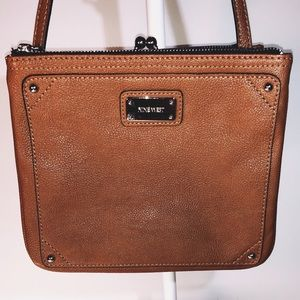 Nine West ~ Pebble Leather ~ Carmel ~ Crossbody